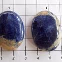 Sodalit /2, Gyöngy, ékszerkellék, Cabochon, Csodáatos , fényesre polírozott Sodalit ásványkövek.    Méretek:  1. :33mm x 24mm elkelt  2. :34mm x..., Alkotók boltja