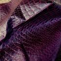 Püspöklila krokodil mintás  báránybőr , Gyöngy, ékszerkellék, Egyéb alkatrész, A bőrök olaszországból származnak. Fantasztikusan szépek,könnyen varrhatók kézzel . /Kipróbálva!/   ..., Alkotók boltja