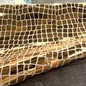 Krokodil mintás metál arany báránybőr, Gyöngy, ékszerkellék, Egyéb alkatrész, A bőrök olaszországból származnak. Fantasztikusan szépek,könnyen varrhatók kézzel . /Kipró..., Alkotók boltja