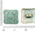 Patina-ezüst  fém gomb, Gomb, Gyöngy, ékszerkellék, 14mm X14mm nagyok ezek a kis nagyon cuki fém gombok. Patina bevonata nagyon divatos.  Minden ékszerk..., Alkotók boltja