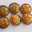Oliva vitral virág 27mm, Gyöngy, ékszerkellék, Cabochon, Alkotók boltja