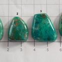Natural Chrysocolla Cabochon 1, Gyöngy, ékszerkellék, Cabochon, AAA+++ minőségű , gyönyörű mintázatú féldrágakövek! Kisebb méretű kövek.   Az ár 1 db ásványra vonat..., Alkotók boltja