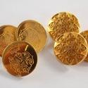 Arany színű  fém gomb 1, Gomb, Gyöngy, ékszerkellék, 20mm átmérőjű arany  színű fém gomb.  Minden ékszerkészítési munkához tökéletesen használható.   A h..., Alkotók boltja