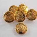 Arany színű  fém gomb 2, Gomb, Gyöngy, ékszerkellék, 18mm átmérőjű arany  színű fém gomb.  Minden ékszer készítési munkához tökéletesen has..., Alkotók boltja