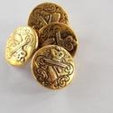 Arany színű  fém gomb 3, Gomb, Gyöngy, ékszerkellék, 15mm átmérőjű arany  színű fém gomb.  Minden ékszer készítési munkához tökéletesen has..., Alkotók boltja