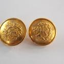 Arany színű  fém gomb 4/b, Gomb, Gyöngy, ékszerkellék, 22 mm átmérőjű arany  színű fém gomb. Ebből a gombból létezik kisebb is.  4/a alatt találod.  Minden..., Alkotók boltja