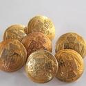 Arany színű  fém gomb 5/a, Gomb, Gyöngy, ékszerkellék, 18mm átmérőjű arany  színű fém gomb. Ebből a gombból létezik nagyobb is.  5/b alatt találod.  Minden..., Alkotók boltja