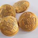 Arany színű  fém gomb 5/b, Gomb, Gyöngy, ékszerkellék, 22 mm átmérőjű arany  színű fém gomb. Ebből a gombból létezik kisebb is.  5/a alatt találod.  Minden..., Alkotók boltja