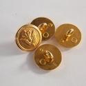Arany színű  fém gomb 6/a, Gomb, Gyöngy, ékszerkellék, 14mm átmérőjű arany  színű fém gomb. Ebből a gombból létezik nagyobb is.  5/b alatt találod.  Minden..., Alkotók boltja