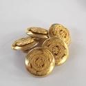 Arany színű  fém gomb 7/a, Gomb, Gyöngy, ékszerkellék, 15mm átmérőjű arany  színű fém gomb. Ebből a gombból létezik nagyobb is.  7/b alatt találod.  Minden..., Alkotók boltja