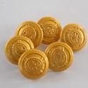 Arany színű  fém gomb 8/a, Gomb, Gyöngy, ékszerkellék, 18mm átmérőjű arany  színű fém gomb. Ebből a gombból létezik nagyobb is.  8/b alatt találod.  Minden..., Alkotók boltja