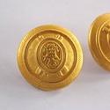 Arany színű  fém gomb 8/b, Gomb, Gyöngy, ékszerkellék, 22 mm átmérőjű arany  színű fém gomb. Ebből a gombból létezik kisebb is.  8/a alatt találod.  Minden..., Alkotók boltja