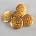 Arany színű  fém gomb 9/b, Gomb, Gyöngy, ékszerkellék, 20 mm átmérőjű arany  színű fém gomb. Ebből a gombból létezik kisebb is.  9/a alatt találod.  Minden..., Alkotók boltja