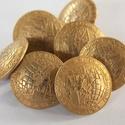 Arany színű  fém gomb 10/a, Gomb, Gyöngy, ékszerkellék, 15mm átmérőjű arany  színű fém gomb. Ebből a gombból létezik nagyobb is.  10/b alatt találod.  Minde..., Alkotók boltja