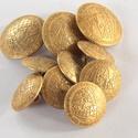 Arany színű  fém gomb 10/b, Gomb, Gyöngy, ékszerkellék, Alkotók boltja