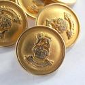 Arany színű  fém gomb 11/a, Gomb, Gyöngy, ékszerkellék, 18mm átmérőjű arany  színű fém gomb. Ebből a gombból létezik nagyobb is.  11/b alatt találod.  Minde..., Alkotók boltja