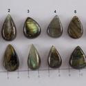 Labradorite 2, Gyöngy, ékszerkellék, Cabochon, Nagy szerelem Nálam a Labradorite. :-) Imádom , hogy ahány, annyi féle tűz ég benne.   Mérete..., Alkotók boltja