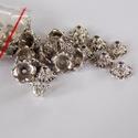 Antik ezüst virág gyöngykupak, Gyöngy, ékszerkellék, Egyéb alkatrész, Antik ezüst színű virág alakú  gyöngykupakok. Méret: 4mm X 10mm, Alkotók boltja