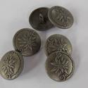 Antik szürke   fém gomb , Gomb, Gyöngy, ékszerkellék, Alkotók boltja