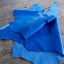 Gyönyörű  kék   báránybőr , Gyöngy, ékszerkellék, Egyéb alkatrész, A bőrök olaszországból származnak. Fantasztikusan szépek,könnyen varrhatók kézzel . /Kipróbálva!/ Va..., Alkotók boltja