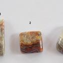 CRAZY LACE  Agate 3, Gyöngy, ékszerkellék, Cabochon, Ékszerkészítés, Gyönyörű mintázatú,fényesre polírozott kövek.    Mérete:  1: 30mm X 15mm x 5,6 mm   2: 17,5 mm x 18..., Alkotók boltja