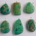 Chrysocolla 2, Gyöngy, ékszerkellék, Cabochon, Ékszerkészítés, Fantasztikusan szép, különleges mintázatú Chrysocolla féldrága kövek.   Mérete: A 1.  23mm X 21,5 m..., Alkotók boltja