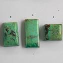 Chrysocolla 4, Gyöngy, ékszerkellék, Cabochon, Ékszerkészítés, Fantasztikusan szép, különleges mintázatú Chrysocolla féldrága kövek.   Mérete: A 1.  21,5mm X  13 ..., Alkotók boltja