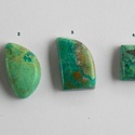 Chrysocolla 5, Gyöngy, ékszerkellék, Cabochon, Ékszerkészítés, Fantasztikusan szép, különleges mintázatú Chrysocolla féldrága kövek.   Mérete: A 1.  20,5mm X  11 ..., Alkotók boltja
