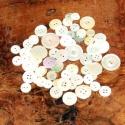 Régi kagylóhéjból készült gombok, Gomb, Különféle méretű és formájú esetleg csorba gombok. Dekorációnak ajánlom. 60 db, Alkotók boltja