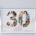 A3-as Szülinapi fényképes szám poszter, 30-as szám print montázs, faliposzter, poszter, Dekoráció, Szerelmeseknek, Otthon, lakberendezés, Kép, Mindenmás, Az ismerősöd, szeretted, közeli családtagod, barátod születésnapjára készülsz és valami igazán egye..., Meska