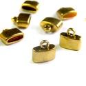 10x11mm bőrvég, zsinórvég, végzáró, gyöngykupak, arany (4db), Gyöngy, ékszerkellék, Bőrvég / zsinórvég / szalagvég  Szín: arany Anyag: fém Hosszúság: kb 10 mm Átmérő: kb 11,5 mm Belső ..., Alkotók boltja