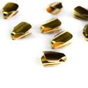 10x7mm bőrvég, zsinórvég, végzáró, gyöngykupak, szalagvég, arany szín (10db), Gyöngy, ékszerkellék, Zsinórvég  Szín: arany Anyag: fém Hosszúság: kb 7 mm Átmérő: kb 10,5 mm   Az ár 1db-ra vonatkozik...., Alkotók boltja