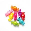 Akril gyöngy, cukorka, AB fényű, vegyes színekben, 10db/csomag, Gyöngy, ékszerkellék, Műanyag gyöngy, Akril gyöngy   Szín: vegyes AB színek Anyag: akril  MÉRETEK:  9,5x10,5x24mm  Furat átmérő: 5mm    Az..., Alkotók boltja