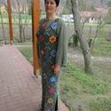 Virágos horgolt női ruha, Táska, Divat & Szépség, Ruha, divat, Női ruha, Ruha, Horgolás, kellemes pamut tartalmú fonalból készítettem ezt a virágos zöld ruhát. Mérete M-L, hossza 140 cm., Meska