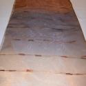 Organza anyag, Textil, Fényes csíkos organza anyag dekorációra asztaldísznek. Mérete:100×180 cm, Alkotók boltja
