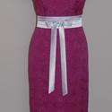 Megkötős szaténöv  , Ruha, divat, cipő, Esküvői ruha, Öv, Varrás, Fehér színű megköthető szaténöv alkalmi ruhára. Méretre rendelhető 6cm vastagságú.  , Meska