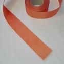 Szatén szalag, Textil, Szalag, pánt, Narancs sárga szatén szalag. 5 cm vastagságú, Alkotók boltja