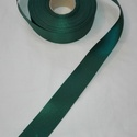Szatén szalag, Textil, Szalag, pánt, Zöld színű szatén szalag. 4 cm vastagságú, Alkotók boltja