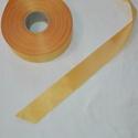 Szatén szalag, Textil, Szalag, pánt, Varrás, Mindenmás, Sárga színű szatén szalag. 4 cm vastagságú, Alkotók boltja