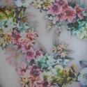 Liliana 50 x 140 cm, Textil, Pamut, Varrás, Textil, Okotex 100 standard muszlin virág mintás anayg.   Jól látható a minta és az anyag gyönyörű esése az..., Alkotók boltja