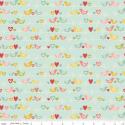 Birds in blue 50cm x 110cm minimum, Textil, Pamut, Varrás, Textil, Amerikai designer anyag, Riley Blake.    Minta: Világos kék alapon mini szines szerelmes madarak so..., Alkotók boltja