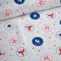 Enchanted 50cm x 110cm minimum, Textil, Pamut, Varrás, Textil,  Enchanted kollekcióból  Amerikai designer anyag   Minta: fehér mini lime és piros pöttyös alapon k..., Alkotók boltja