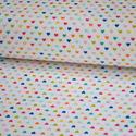 Snapshots Mini hearts- 50cm x 110cm minimum, Textil, Pamut, Varrás, Textil, Amerikai designer anyag, Riley Blake.    Minta: Fehér alapon apró szivek.  100% pamut, 30 fokon mos..., Alkotók boltja
