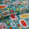Crazy Main 50cm x 110cm minimum, Textil, Pamut, Varrás, Textil, 100% pamut anyag 25cm x 110cm a legkisebb egység, amit levágunk.  Amerikai designer anyag   Minta: ..., Alkotók boltja