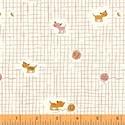 Tiger Lily macska - 50cm x 110cm minimum, Textil, Pamut, Varrás, Textil, Amerikai designer anyag    Minta: mini kockás alapon kis cicák gomolyaggal  100% pamut, 30 fokon mo..., Alkotók boltja