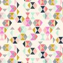 Parade- 50cm x 110cm, Textil, Pamut, Varrás, Textil, Angol designer anyag  Minta:Szines geometrikus minta  100% pamut, 30 fokon mosható és 2es fokozaton..., Alkotók boltja