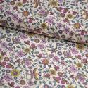 Fantastico Flower BIO jersey textil 25x 170 cm, Textil, Pamut, Varrás, Textil, Extra széles BIO jersey textil 170cm.  95% bio pamut és 5% elasztán ökológiai és etikai normák szer..., Alkotók boltja