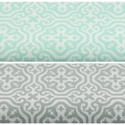 Szürke - fehér színű marokkói mintás textil, világos szürke és fehér Moroccan minta, mozaikos, Textil, Alkotók boltja