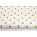 Arany - fehér színű esőcsepp mintás textil, Textil, 100 % pamut textil arany és fehér színben, esőcsepp mintás  Anyagszélesség: 160 cm Anyagvastagság: 1..., Alkotók boltja
