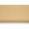 Bézs - fehér apró levél mintás pamutvászon, Textil, 100 % pamut textil bézs és fehér színű apró levélke mintás  Anyagszélesség: 160 cm Anyagvastagság: 1..., Alkotók boltja